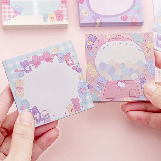 韩国ins粉色甜心糖果可爱粘便签纸
