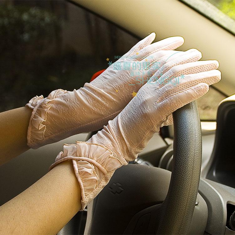 盛琦春夏夏の女性の紫外線防止のショートタイプの自転車レースのスムースタッチパネルの日よけ運転手袋の薄いタイプです。