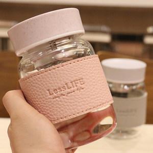 带茶隔泡花茶耐热高硼硅玻璃杯小巧大肚装牛奶办公室学生喝水杯子