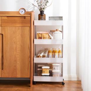 可移动夹缝置物架厨房用品家用大全卫生间落地式缝隙小推车收纳架图片