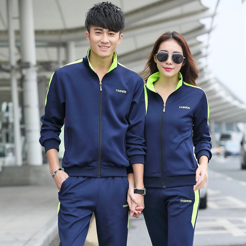 Sportswear mens spring and autumn youth sportswear mens leisure couple sportswear big size running sportswear mens autumn