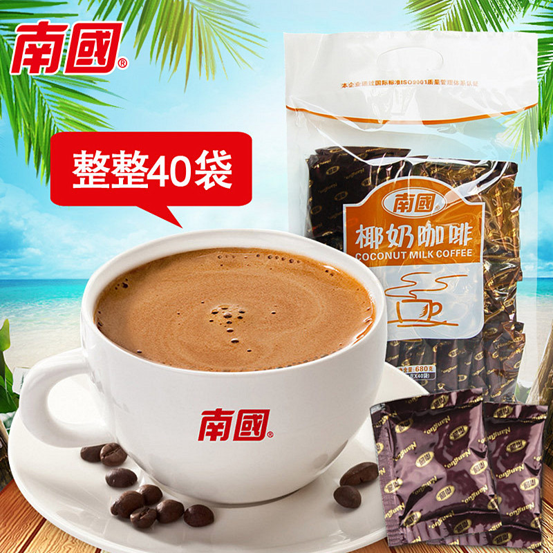 Coconut milk coffee 680g40 packets of concentrated alcohol nutrition beverage powder Hainan specialty instant coffee 22 Islands