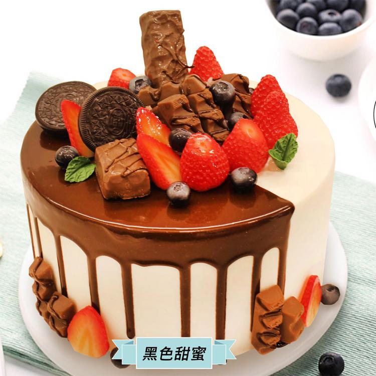 张家口好利来生日蛋糕同城配送宣化区 黑色甜蜜