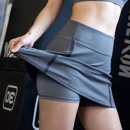 运动短裤女短裤裙防走光宽松高腰速干跑步健身网球裙双层透气秋图片