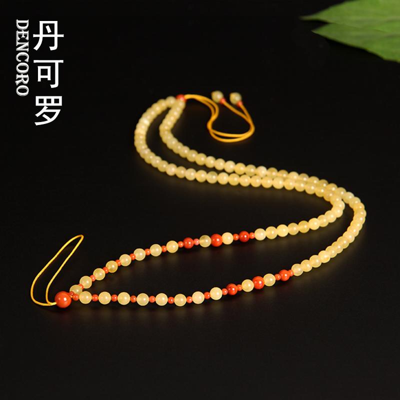 Dankoro amber wax necklace rope original design creative wax sweater chain long chain