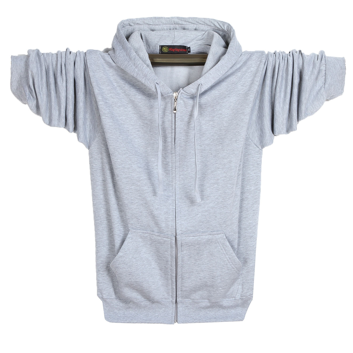 Mens fat plus plus size zipper Hoodie fat brother Plush fat man hooded sweater cardigan chubby brother sportswear