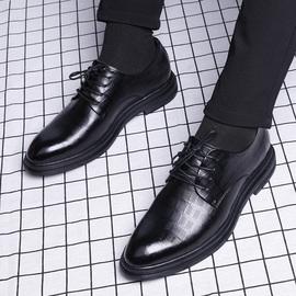 商务正装休闲鞋英伦潮流透气新郎真皮内增高韩版结婚皮鞋男士秋季