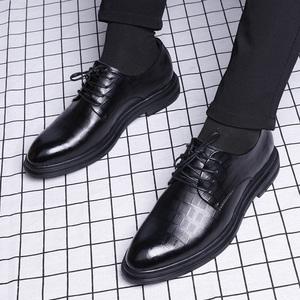 商务男鞋正装休闲鞋英伦潮流鞋子真皮内增高韩版皮鞋男士春季正品
