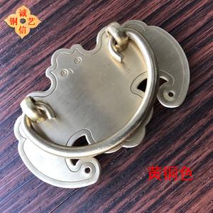 铜拉手明清古典家具拉环纯铜仿古简约中式抽屉橱柜新中式蝙蝠把手