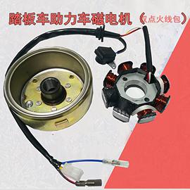 踏板车摩托车配件磁电机及组件 8极线圈 飞轮磁缸转子纯铜定子