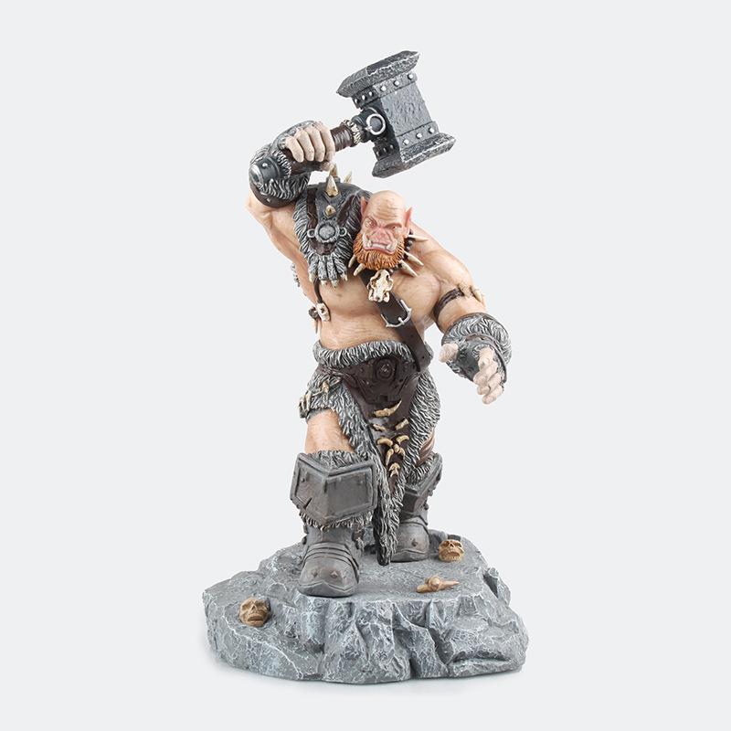 世界 Orgrim兽人领袖 大版 奥格瑞姆·毁灭之锤 雕像盒装手办Z16
