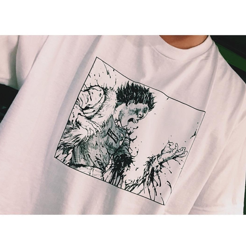 优迷迪潮牌 新款 AKIRA阿基拉动漫印花全棉短袖T恤美式街头休闲潮