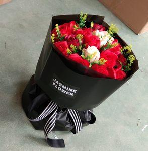 情人节玫瑰花女朋友皂花玫瑰花束玫瑰花束生日毕业礼品创意