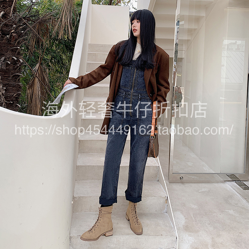 Citizens of humanity tooling wind belt pants front zipper design COH loose and handsome jeans
