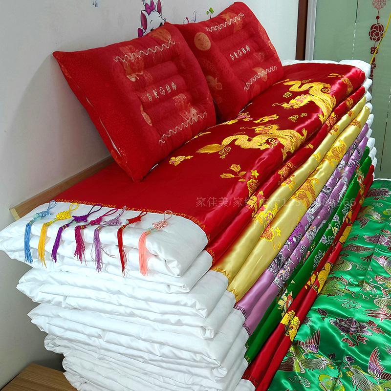 Чистый хлопок шелк ручной работы шелк хлопок выйти замуж одеяло счастливый находятся дракон свадьба кровать моно,парный люди утолщённый зима сделанный на заказ