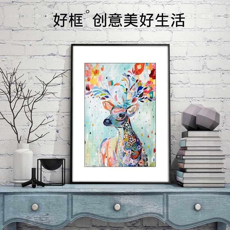 铂赞铝合金相框A2画框8k拼图写真广告4开海报框细窄边60×90定做