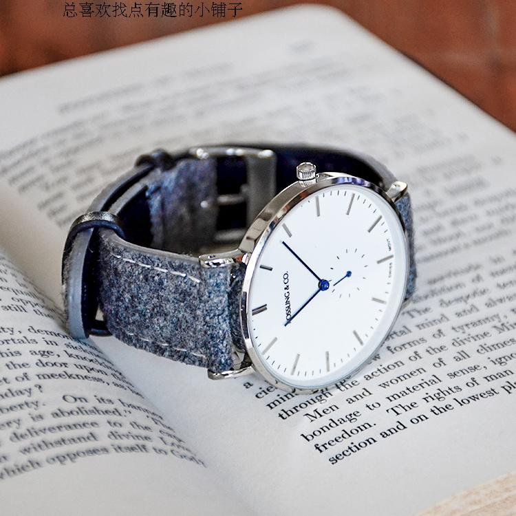 Canadian new rossling & Co watch ultra thin multicolor simple quartz watch for men and women
