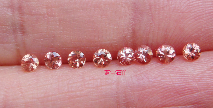 Good transparency, bright yellow sapphire, round 2.9-3.0 mm (8 pieces)