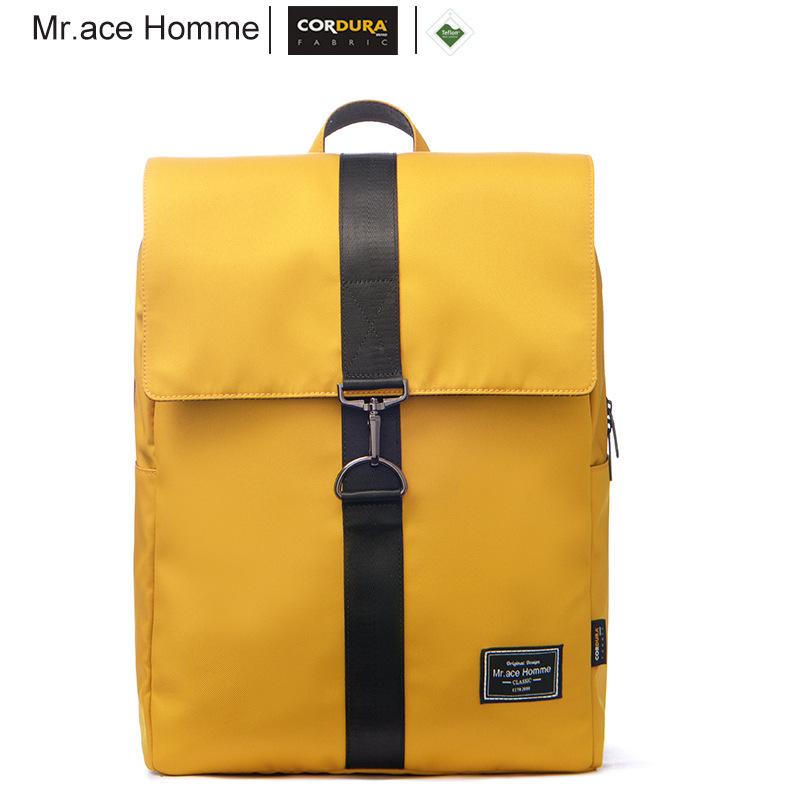 Mr.ace  Homme backpack backpack women Korean version 15.6 inch computer bag simple campus schoolbag male