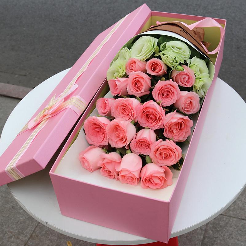 丽水红玫瑰花束礼盒生日鲜花速递同城莲都龙泉青天缙云遂昌送花店