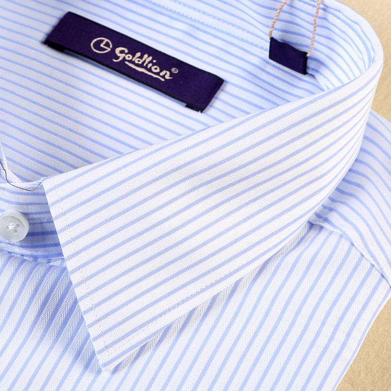 金利来秋季特价长袖衬衫  男士商务正装男士条纹衬衣