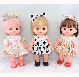 滿58包郵咪露娃娃衣服配件小美樂通用多款連衣裙搭配發帶鞋子女孩
