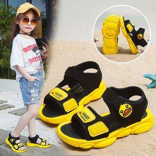 女童夏季新款网红小黄鸭韩版童鞋