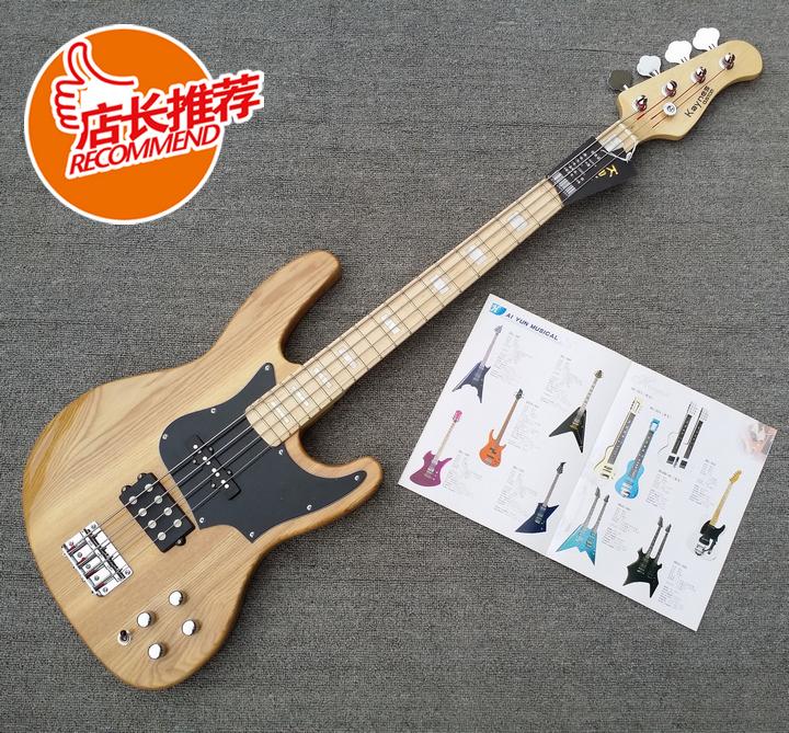 Бесплатная доставка подлинный Kaynes вяз журнал винни электричество бас MX играя электро бас рок bass