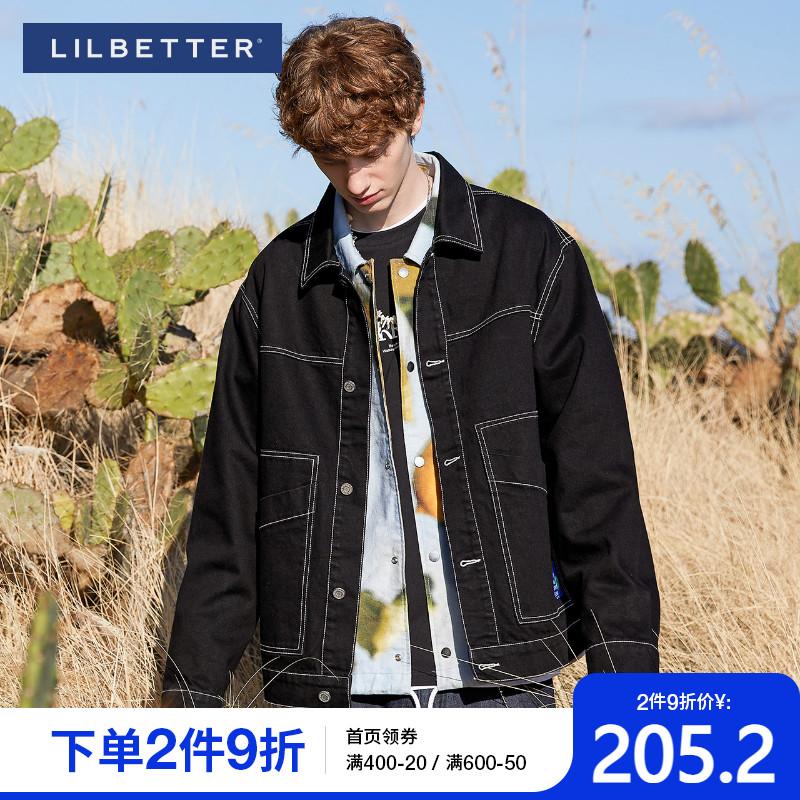Lilbetter夹克男 韩版潮流男装帅气上衣春季痞帅男士新款牛仔外套