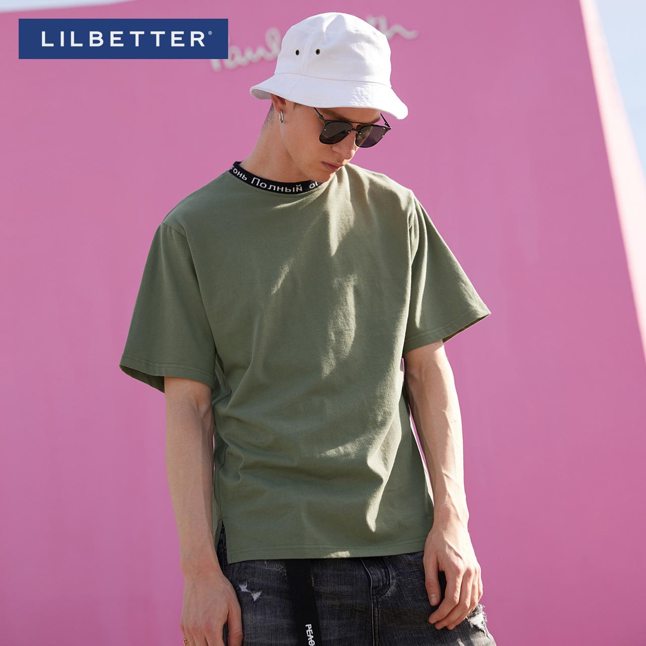 lilbetter嘻哈潮流學生男士圓領t恤
