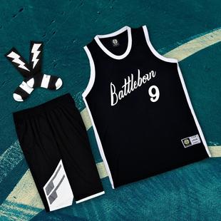 SD日落東單球服灌籃高手街球隊服籃球服套裝街頭籃球衣服定製diy