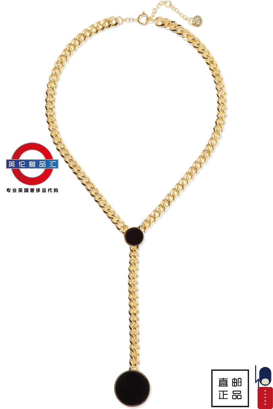 英伦代购 5女新款Arme De L'Amour镀金搪瓷项链 伦敦包税直邮