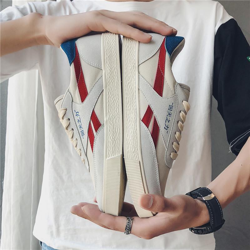回天之力鞋正品老北京布鞋男青年夏天休�e�n版防臭潮�底帆布鞋子