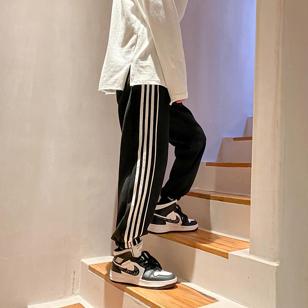 A217-k036-p45 loose mens casual pants striped guard pants mens sports pants Leggings non ironing pants