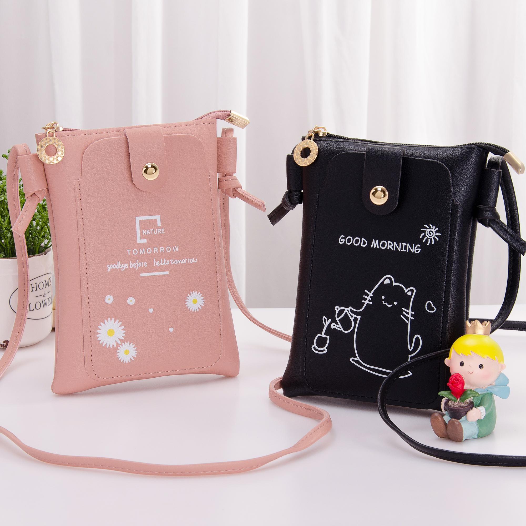 手机包女2020新款韩版可爱简约迷你小包包手机零钱包斜挎包单肩包
