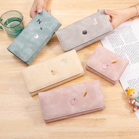 钱包女长款2020新款韩版潮可爱时尚简约小清新学生折叠个性钱夹图片