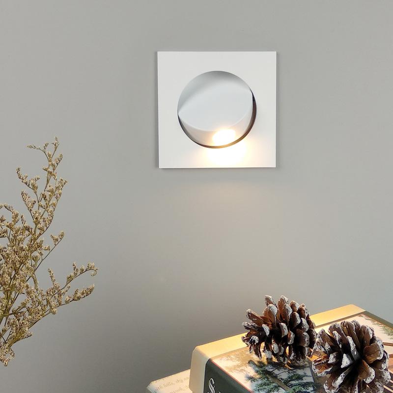 包邮北欧现代简约嵌入式led自动壁灯