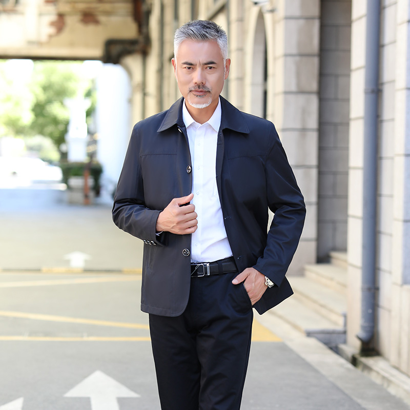 Mona family new product in spring 2019 business city leisure single breasted long sleeve mens jacket mn57000