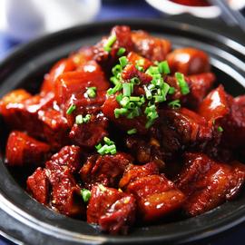 湖南毛氏红烧肉酒店饭店餐饮特色用半成品菜肉类美食加热即食食材图片