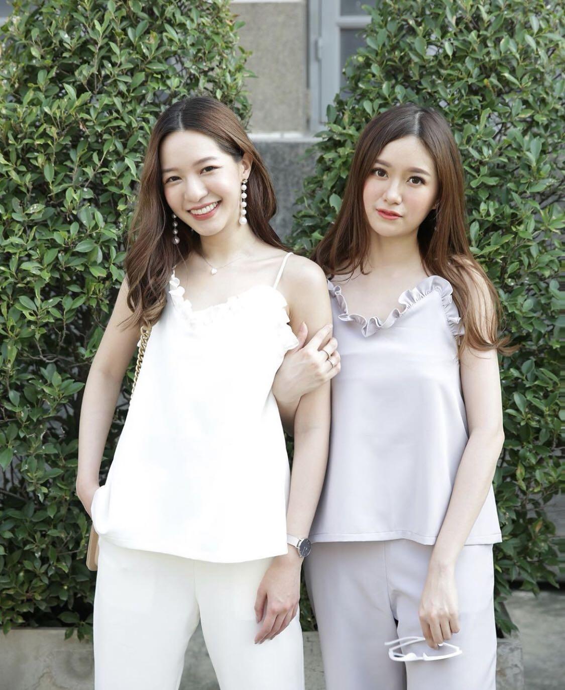 泰国代购包邮包税5-7天到手 设计师2020早春荷叶边小女人吊带长裤