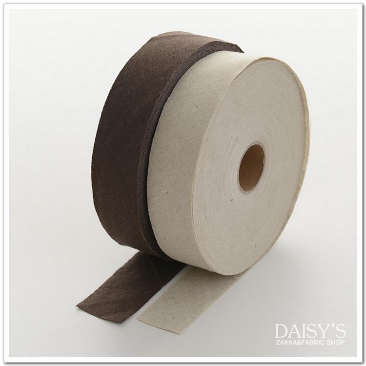 新品 DIY布艺手工花边辅料 素色棉麻布 包边条 4cm宽 买10送1
