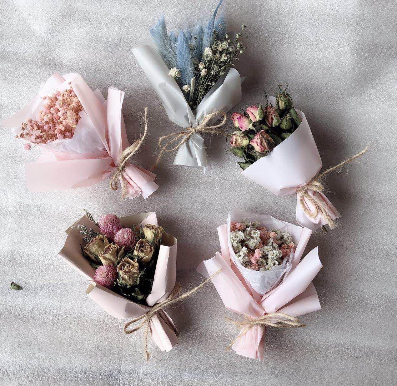 婚礼伴手礼小花束满天星丹斯菊干花