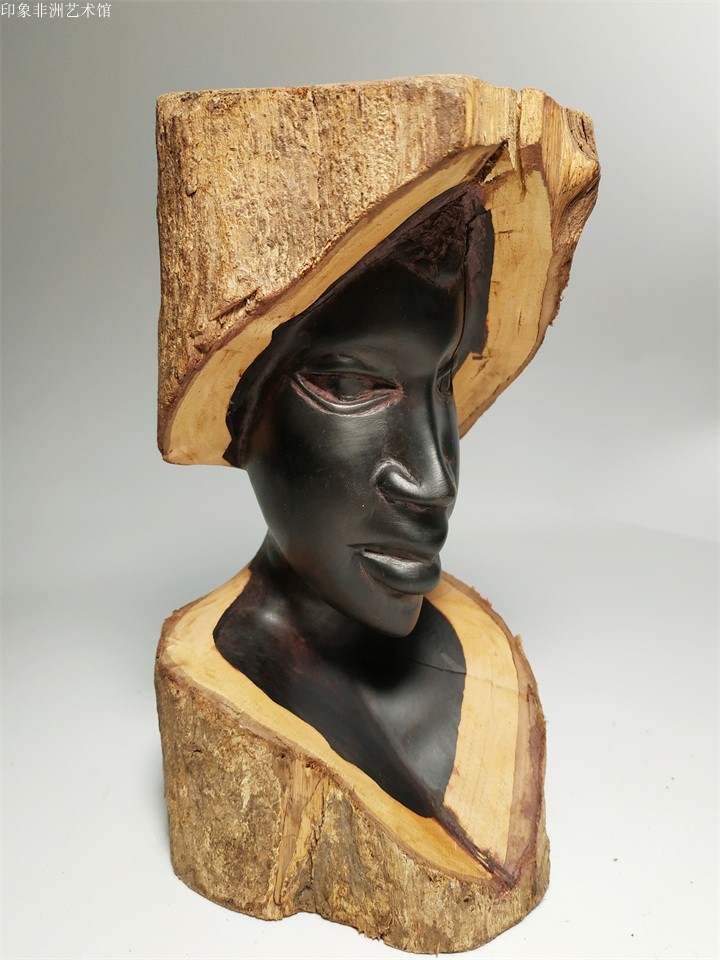 African black wood carving original import pure handmade African ebony carving Kenyan home decoration office accessories