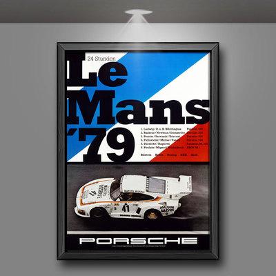 印客玩家勒芒赛车复古海报装饰画挂画客厅书房餐厅车行店LE MANS