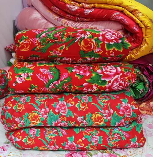 东北大花被罩 东北大花被套 老式花布被罩 古典龙凤吉祥图案被罩