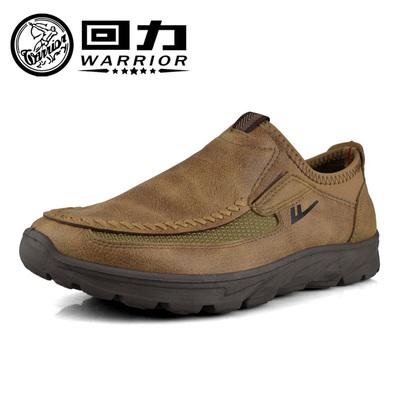 回力男鞋轻便防滑透气运动休闲低帮父亲秋冬套脚鞋一脚蹬懒人鞋
