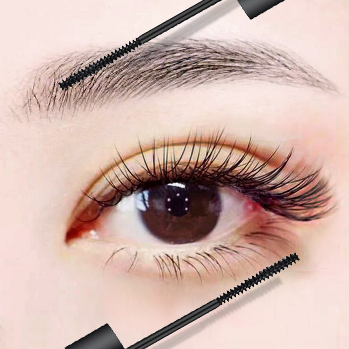 Net red mascara is very small brush head elongated waterproof fiber long curled, encryption lengthened not dizzy dye the same woman.