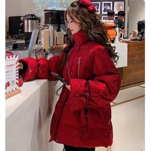 官網圖2020年新款羽絨服女韓版寬松冬季外套冬裝小清新中長款棉襖