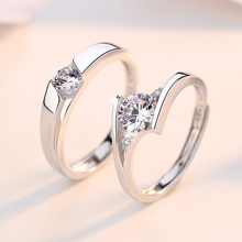 925 Silver Simulated Diamond Ring Women A Big Diamond Ring Men Marriage Proposal Engagement Couple Ring