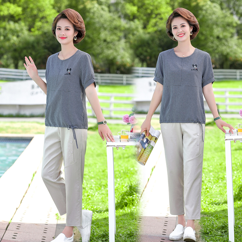 Summer clothes for women in their 40s, 50s, 60s middle age womens suits for fat mothers